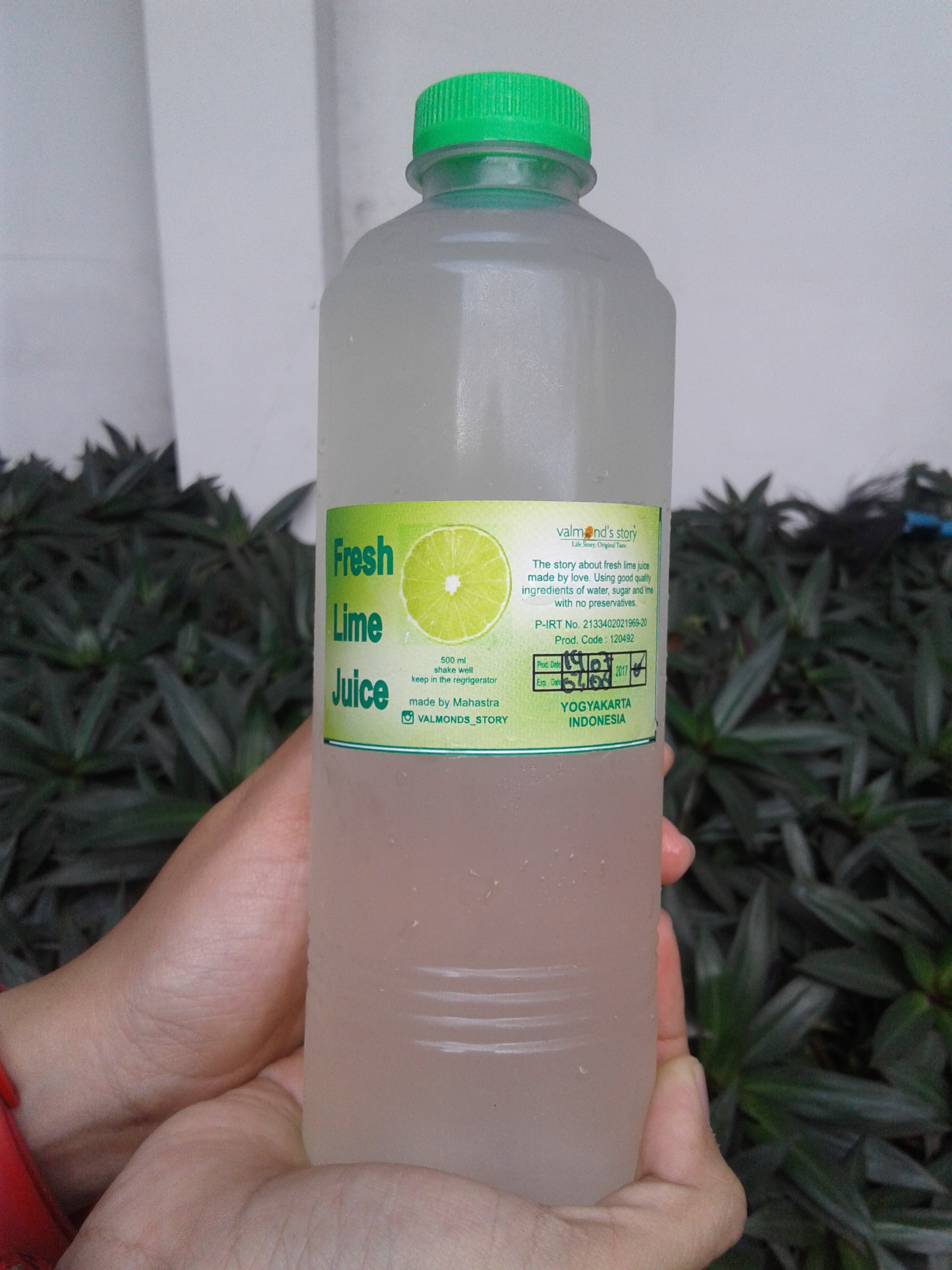 Valmont s Fresh Lime Juice 500 ml